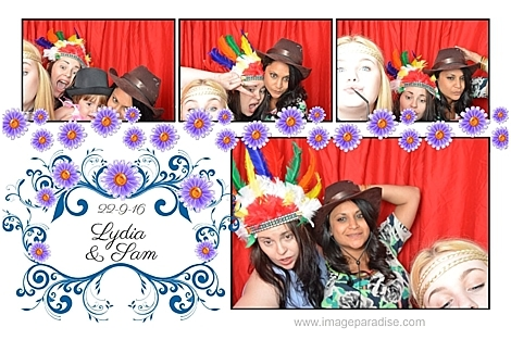 indian and cowboy photo booth