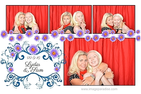 two girls in photo booth