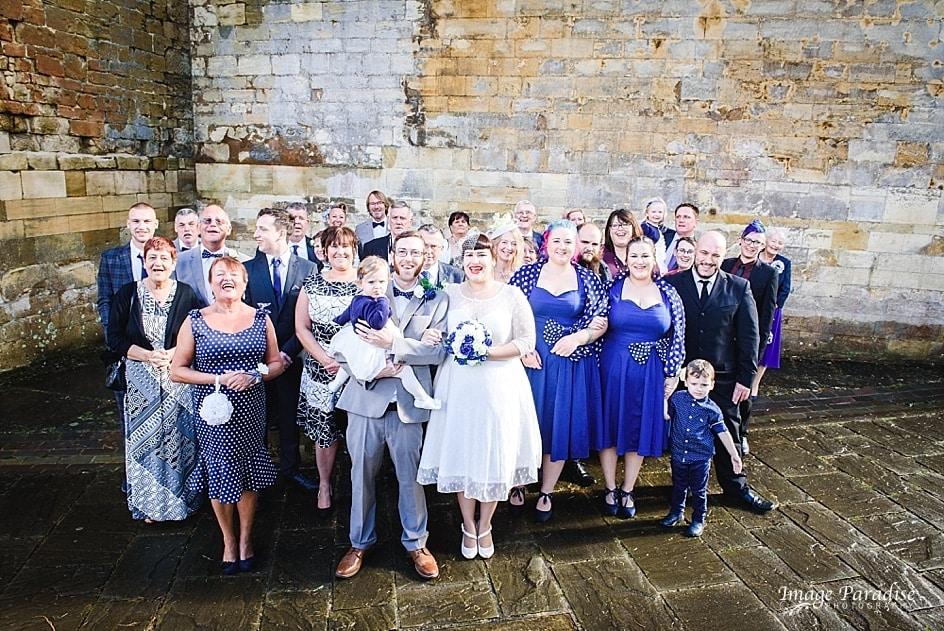 Group photo at Tewkesbury abbey