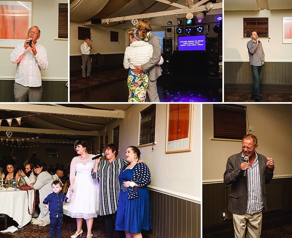 people singing karaoke at Gupshill Manor