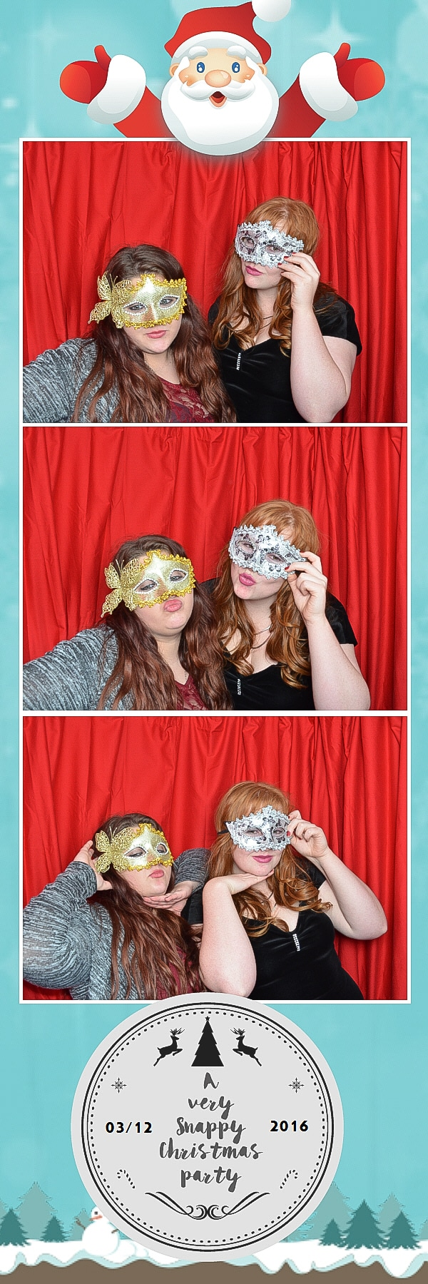 masked ball photo booth