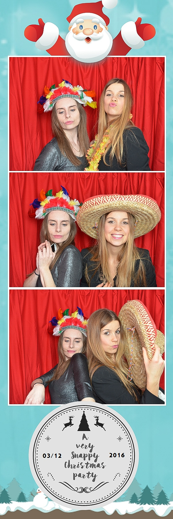father christmas design photo booth