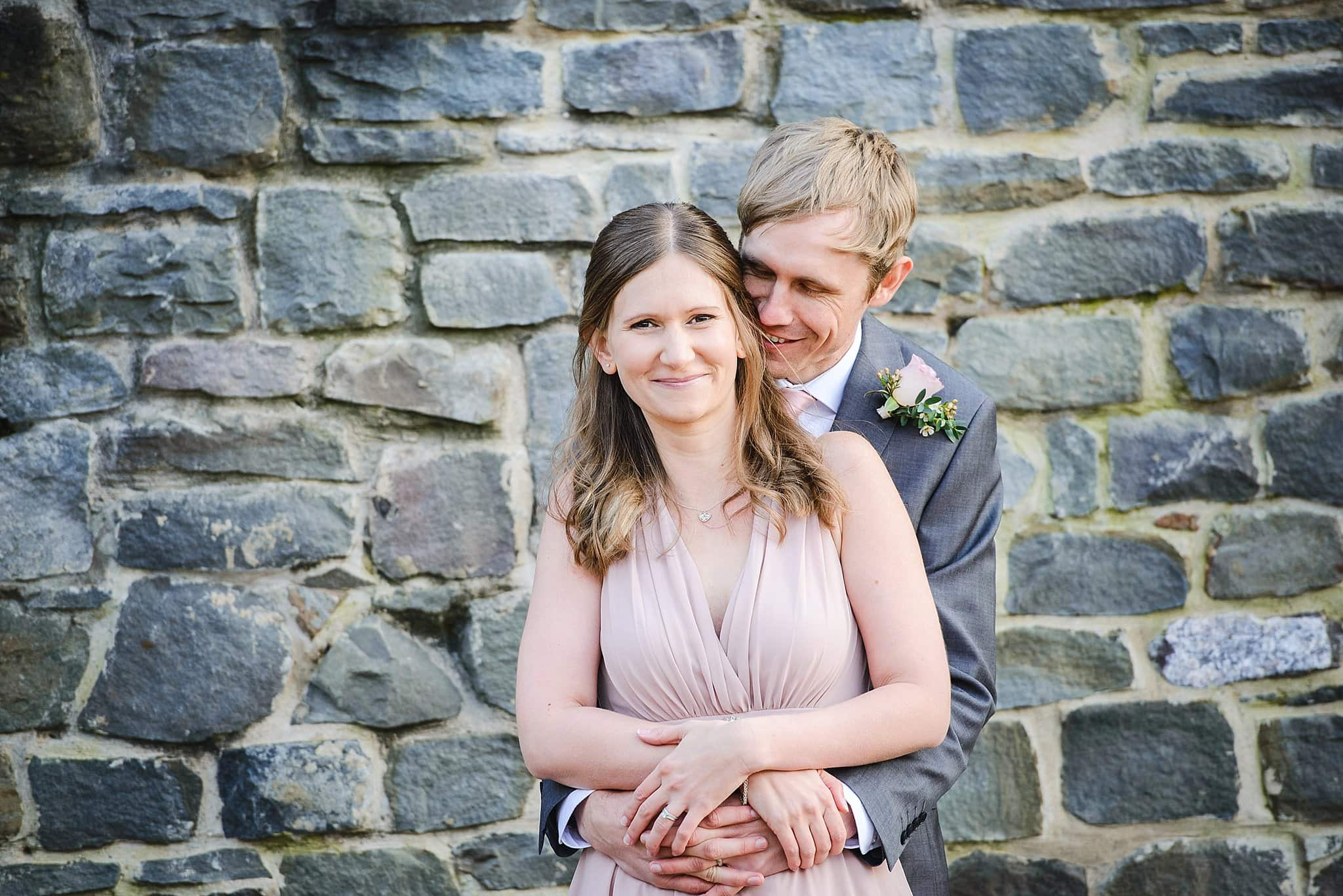Bride & groom intimate wedding photo