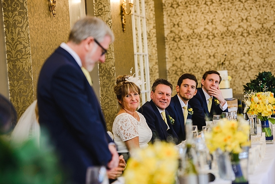 Father of the bride reads out speech as guests watch on at Bristol zoo wedding
