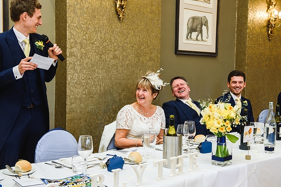 Groom makes guests laugh at his Bristol zoo wedding reading out his speech