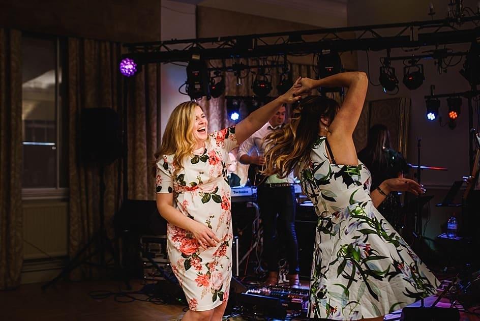 guests dancing at a Bristol zoo wedding