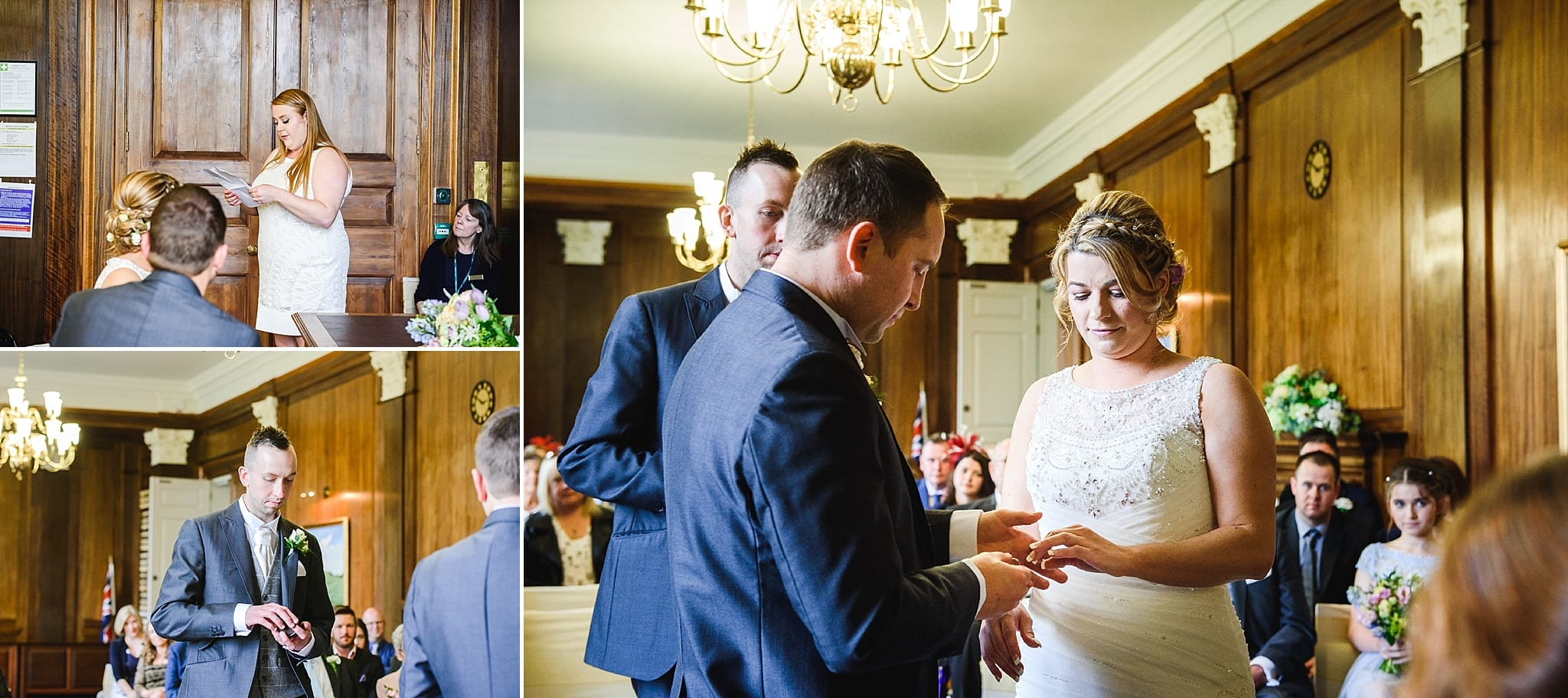 an exchange of rings at Trowbridge registry office ceremony