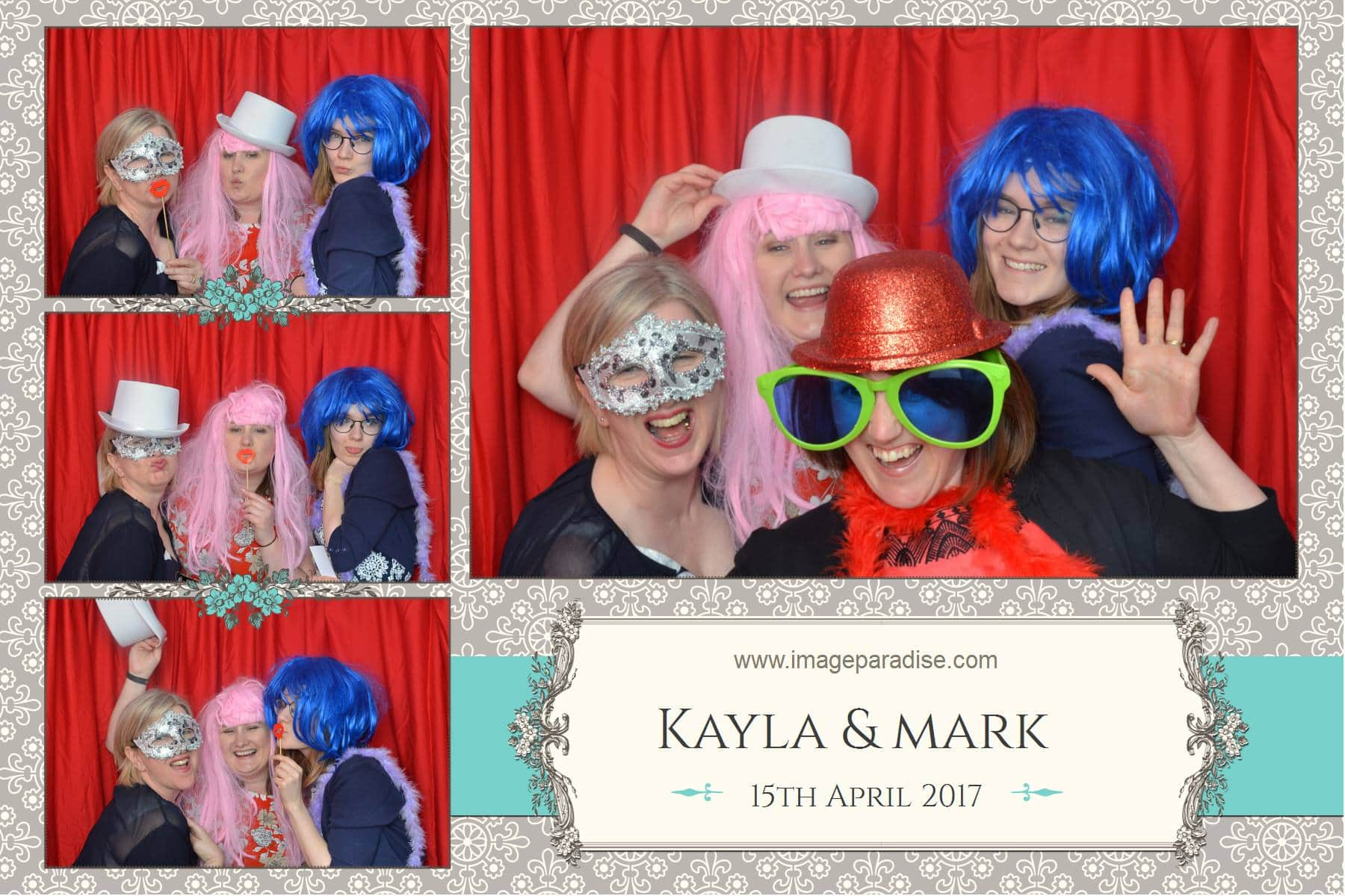 Fancy dress red curtain photo booth