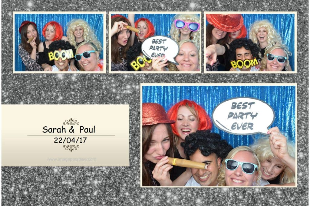 Guests striking a pose in the Hare and Hounds photo booth