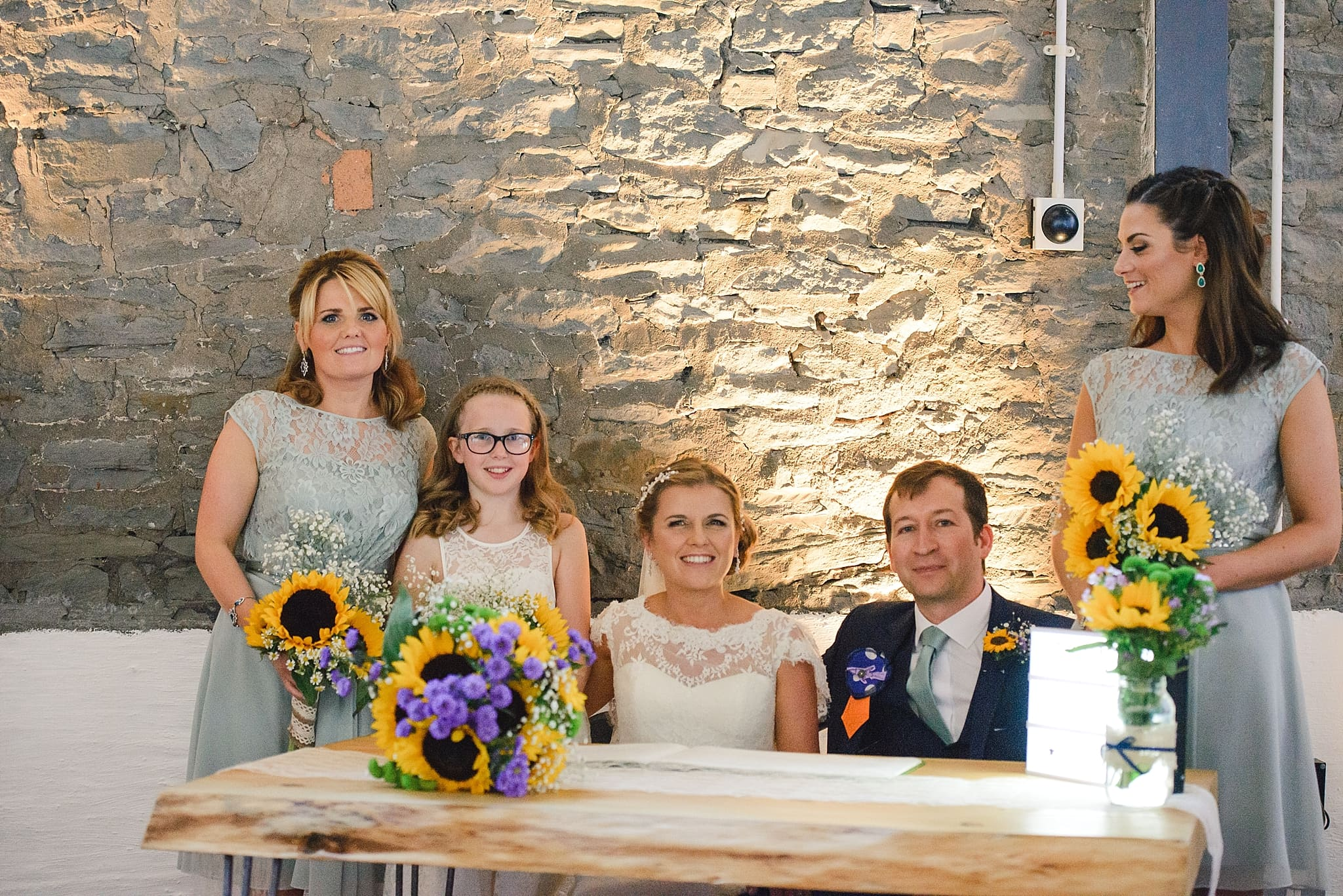 witnesses to signing of the register at the Paintwork's wedding