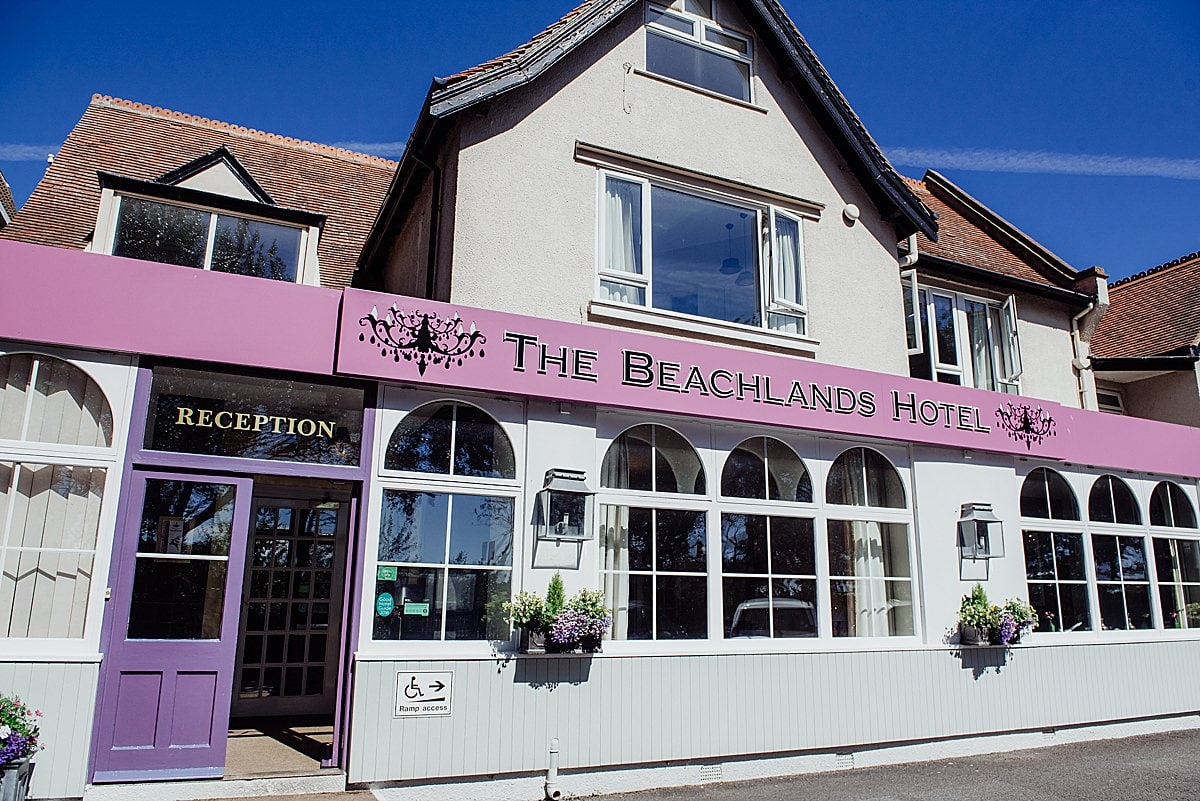 A photo of the front of the building of the Beachlands hotel wedding venue in Weston Super Mare
