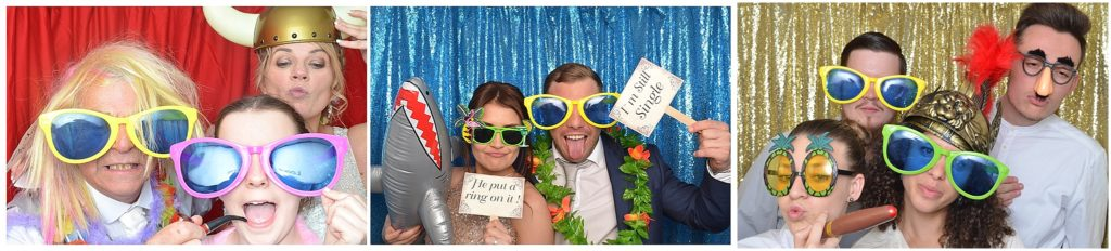 Three different coloured Photo Booth backdrops to choose from