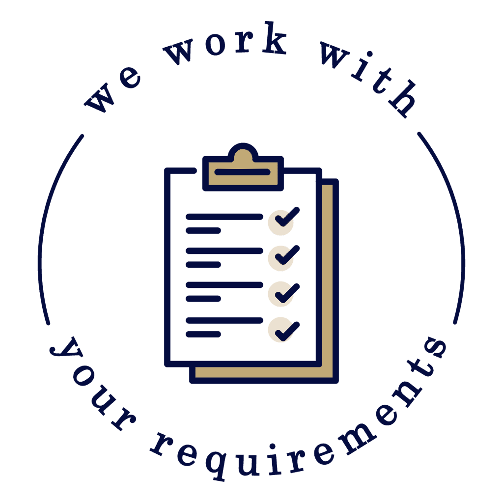 We work with your requirements icon