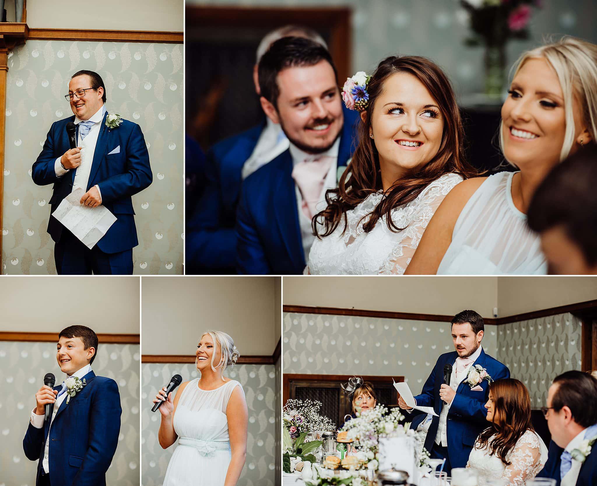 Wedding speeches at Gregnog Hall
