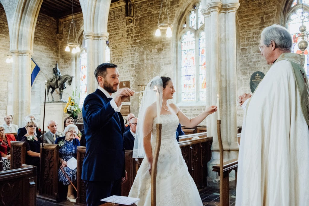 wedding sermon at St Andrews church Mells