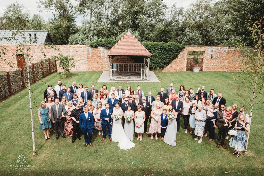 group photo in the walled garden at Hatherley Manor