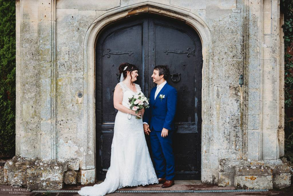 couple stood in the archway