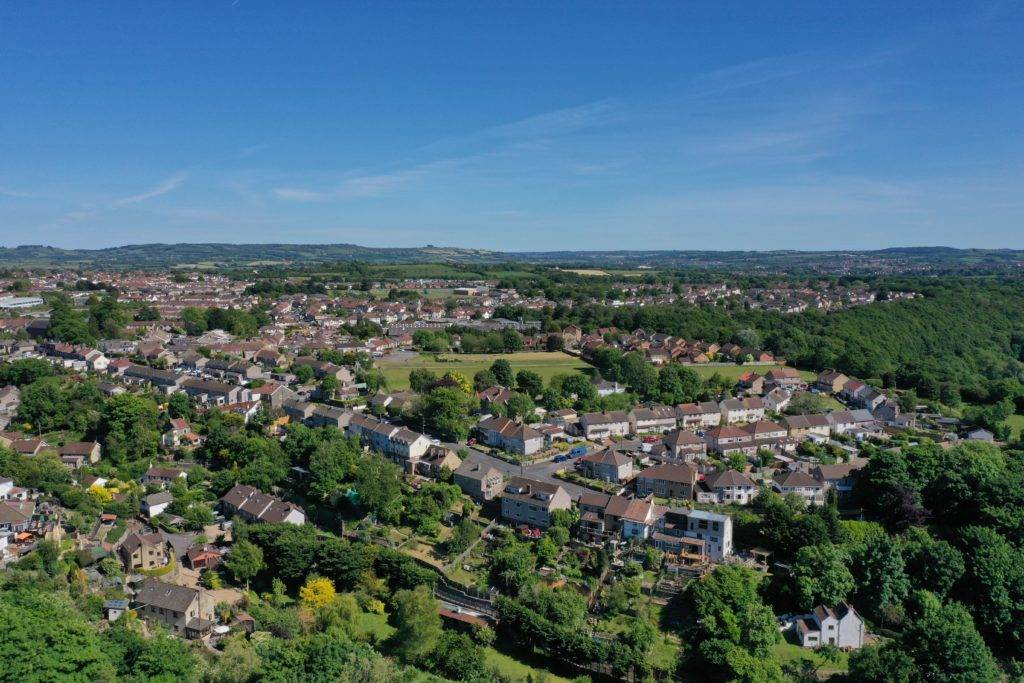 Hanham Bristol aerial photo