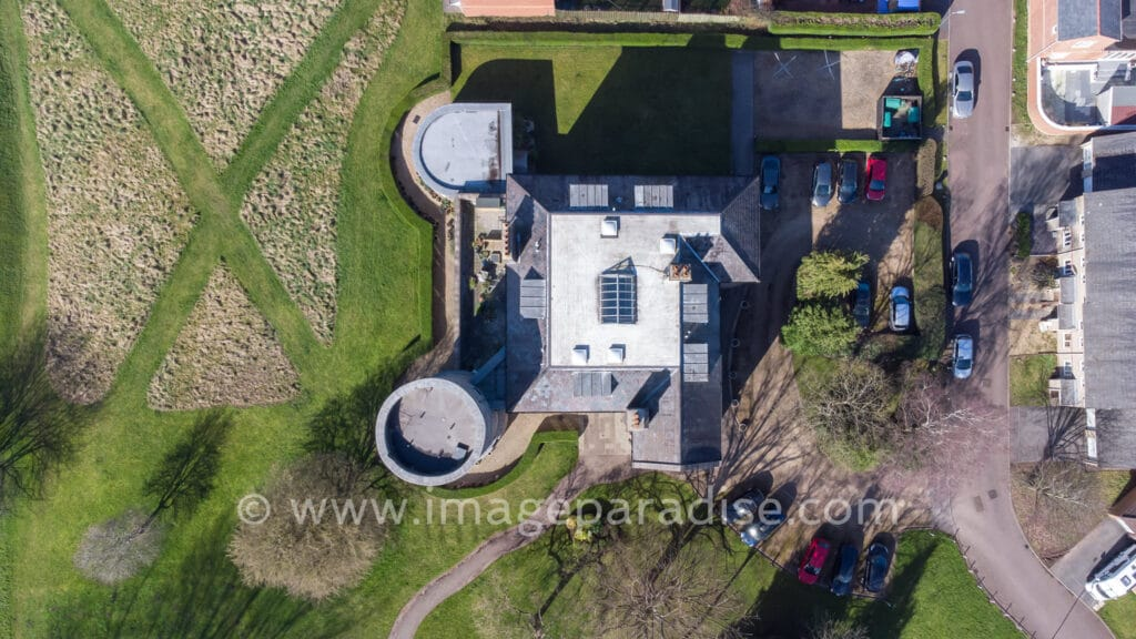 Aerial view of Linden House Stoke Park Estate