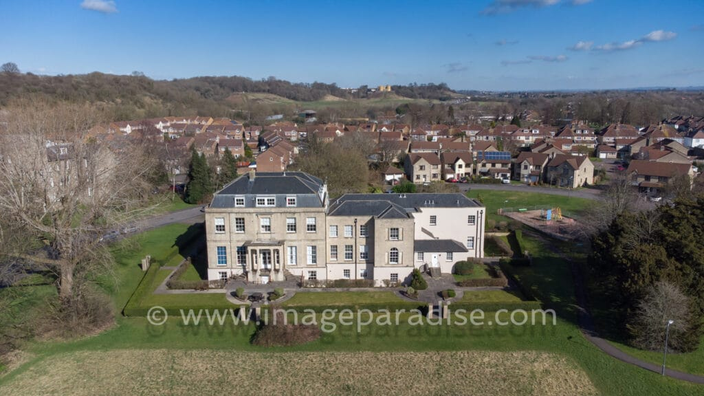 Beech House and Stoke Park Estate by Drone