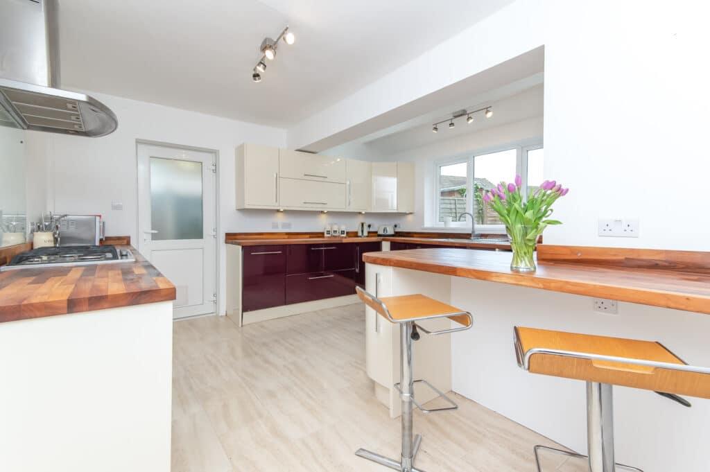 Property photography of a modern kitchen